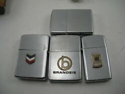 Lot Of 4 Vintage Zippo Advertising Lighters Used