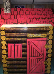 Rare Vintage Log Cabin Syrup Promotional Play House W/ Box Great Graphics