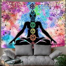 Psychedlic Tapestry Mandala Wall Hanging Home Bedspread Throw Blanket Decoration