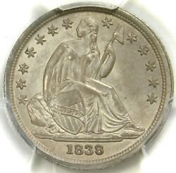 💙🔥💎🔥😍🗽pcgs Ms63 No Drapery Large Stars 1838 Seated Dime