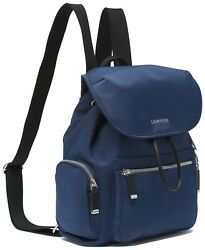Women#x27;s Calvin Klein Kimberly Backpack Navy MSRP $188 B4HP $64.95