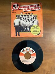 Mickey Mouse Club Alma Mater 1975 45 Rpm Disney Records 656 W/ps - Ex-/vg+