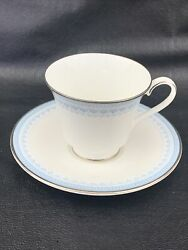 """Royal Doulton Lorraine China 3.5""""w X 3""""t Cup 6""""w Saucer 8 Oz H5033 1973 England"""