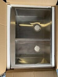 Alpha 30andrdquo Equal Bowl Farmhouse Stainless Kitchen Sink