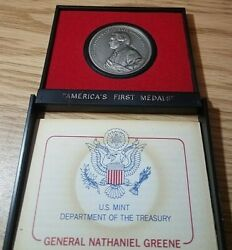 General Nathaniel Greene U.s. Mint Americaand039s First Medals Pewter Collection