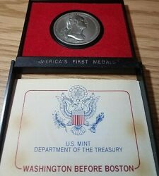 Washington Before Boston U.s. Mint America's First Medals Pewter Collection