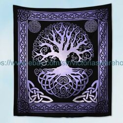 celtic pagan hippie tree of life wall tapestry vintage accent