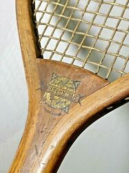 Peck And Snyder Beeckman Tran Flat-top Antique Tennis Racquet Was Jeanne Cherrys
