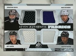 2013-14 Sp Game Used - Seven Authentic Fabrics - Quick Doughty Carter Richards