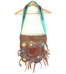 Gypsy Soule Bright Purse Bag Faux Leather All Who Wonder Are Not Lost