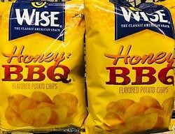 2 Bags Wise Honey Bbq Potato Chips ++ Fast Free Shipping ++