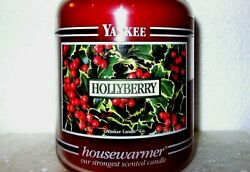 Yankee Candle Retired Black Band Hollyberry 22 Oz White Label Rare And Vhtf