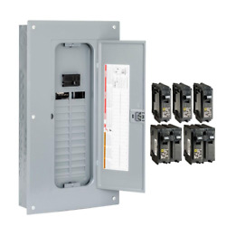 Indoor Main Breaker Plug-on Neutral Load Center Box 100 Amp 24-space 48-circuit
