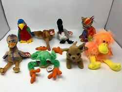 Lot Of 8 Beanie Babys Mix H