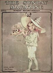 Maud Humphrey | Easter Morning Art Print , Size 12 X 15 Inches W / Border