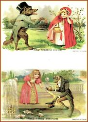 Maud Humphrey | Red Riding Hood And The Frog  Art Print