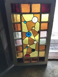Sg 3463 Antique Queen And Stained Glass Window Jeweled Center 22.5 X 39.5