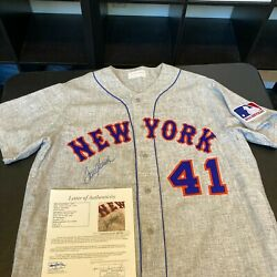 Tom Seaver Signed Authentic 1969 New York Mets Mitchell And Ness Jersey Jsa Coa