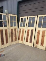 An 26 Six Available Sold Separate Antique Pine Raised Panel Carriage Door