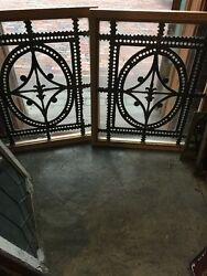Sg 11392 Available Sold Separate Antique Leaded Glass Windows Unusual