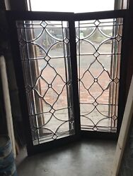 Sg 3265 Two Available Price Each All Beveled Glass Window 23.75 X 54