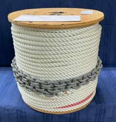 Good R/c 9/16 X 600and039 Depth Color-coded Anchor Line W/ 10and039 5/16 Bbb Galv. Chain