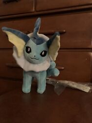 Pokemon Center Japan Official Eevee Evolution Vaporeon Plush 2012 With All Tags