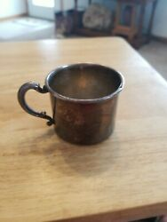 Vintage Silver Plated Baby Cup Epc Poole Silver Co. Sheila Engraved