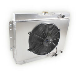 Radiator With Fan 3 Core For 1959-1965 Chevy Impala Chevelle El Camino Bel Air