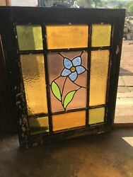 Sg 3371 Antique Queen And Stained Glass Window 20.5 X 25