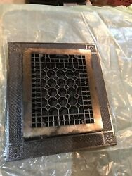 5 Antique Cast-iron Honeycomb Heating Grate With Frame 13 5/8 X 15 Five Eights