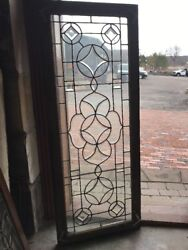 Sg 1943 Antique Beveled Glass Leaded Window21 X 52.5