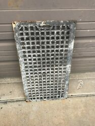 An Cast-iron Heating Grate Or Cold Air Returns 13 And Seven Eights X 12.5