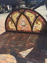 Sg 731 Antique Arch Window With Bird And Olive Branch