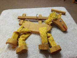 Wood Wooden Horse Marionette String Puppet Easy To Use Toy. Mexico