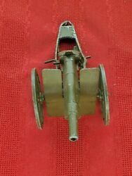 Vintage Japanese Toy Army Artillery Cannon Cap Gun Made In Japan Die Cast