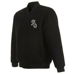 Mlb Chicago White Sox Jh Design Wool Reversible Jacket With 2 Front Logos