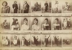C. 1870and039s Named French Can-can Dancers And Actors Sample 21 Cabinet Card Photos