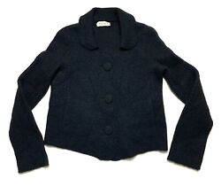 Womenand039s Rochas Wool And Silk Jacket 40 Designer Sweater Cardigan Made In France