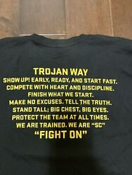 Usc Trojans Nike Football Shirt Team Issued Dri Fit Conditioning Large