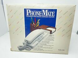 Vtg Nos Phonemate 5050 Answering Machine With Feature Phone Mini Mate 1984 New