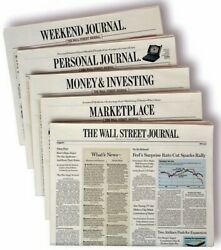 Wall Street Journal Subscription 1-year Print And Digital Wsj New Or Renewal