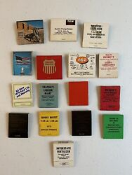Vintage Lot Antique Matchbooks Old Advertising Matches 70's And 80's