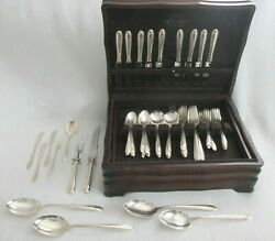 61 Pieces Towle Sterling Silver Flutes Service Set- Place Settings + Serving