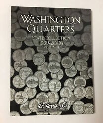 He Harris Coin Book Folder 2580 Washington Quarters 1999-2003 State Collection