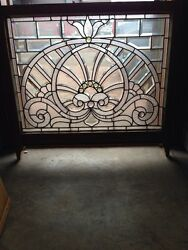 Sg 207 Absolutely Incredible 1880s Beveled Glass Window