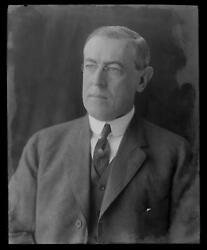 C. 1912 President Woodrow Wilson By Pach Brothers Photo Glass Negative