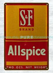 Collectible Vintage Reproduction Tin Signs Sandf Allspice T Metal Tin Sign