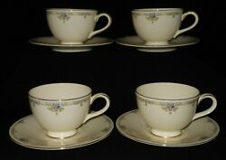 4 Sets Of Gorgeous Royal Doulton Melanie H5156 Tea Cup And Saucer. 4528-4b203