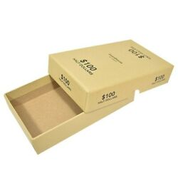 Half Dollar Rolls Storage Box 100 Capacity Hold 10 Wrapped Coin Roll Buff Color